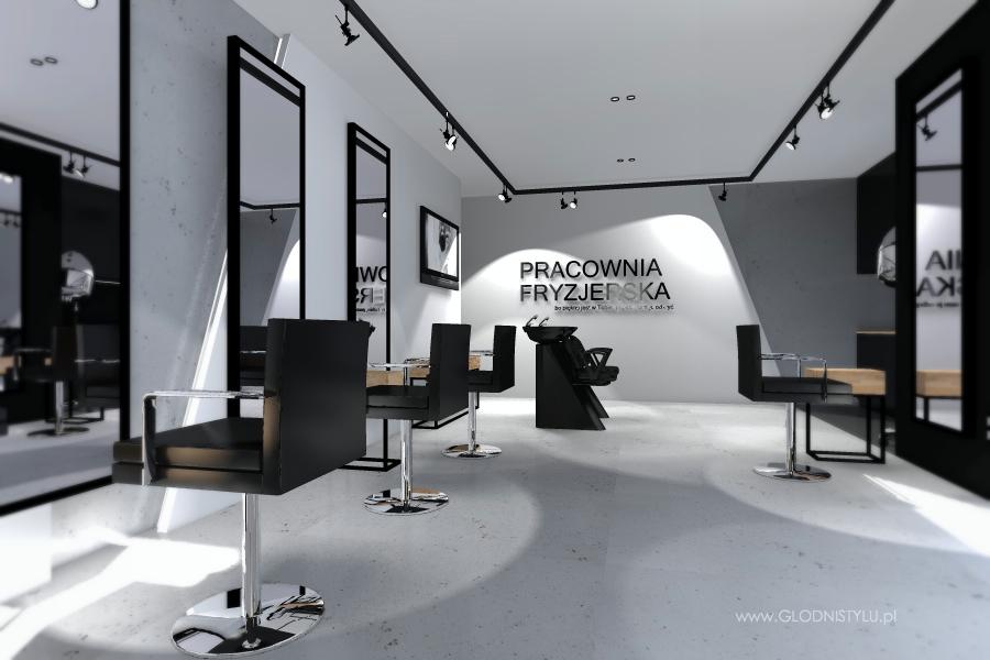 salon fryzjerski ch14 g�odnistylu wnĘtrza i architektura