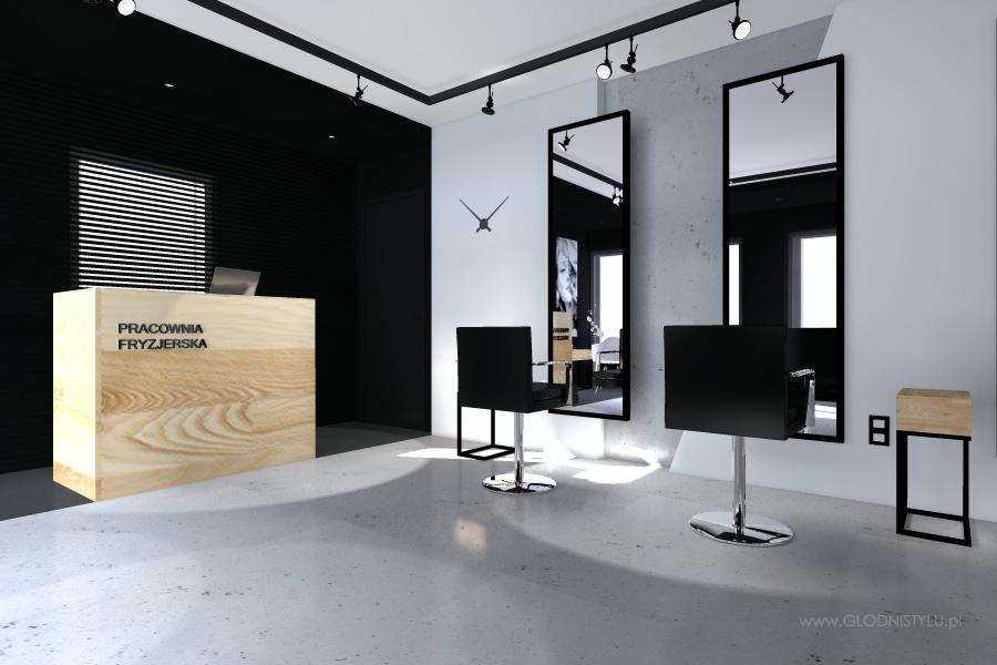 Salon Fryzjerski Ch14 Głodnistylu WnĘtrza I Architektura